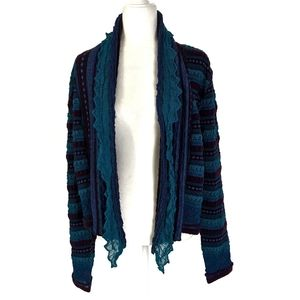 Chico's Bohemian Drape Cardigan Sweater Open Front